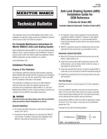 Service notesthis mainten technical bulletin meritor wabco sciox Choice Image
