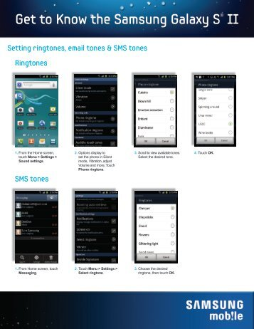 Get to Know the Samsung Galaxy S® II - US Cellular
