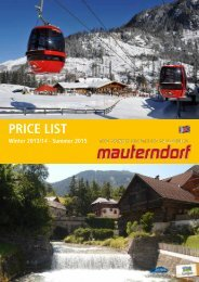 Pricelist 2013/2014 - Mauterndorf