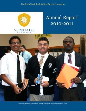 Annual Report 2010-2011 - Verbum Dei High School