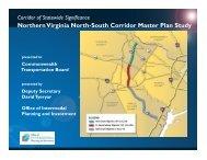 Northern Virginia North-South Corridor Master Plan Study