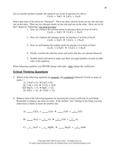 86 ChemQuest 29 Name