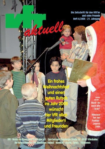 21. Jahrgang aktuell VfR · Verein für Rasenspiele ... - VfR Wiesbaden