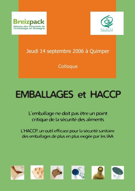 invitation emballages et HACCP - Bretagne Innovation