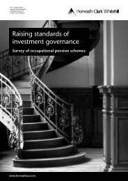 Raising standards of investment governance 2008 - Crowe Horwath ...