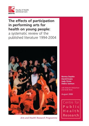 The impact of arts on health and wellbeing of young people: a ...