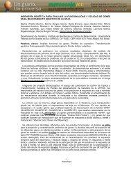 INGENIERÍA GENÉTICA PARA EVALUAR LA ... - Mercosoja 2011