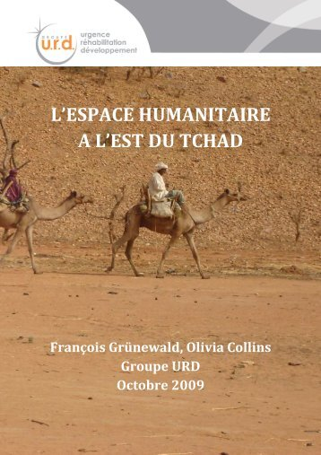 travail espace humanitaire 081009 final - Groupe URD