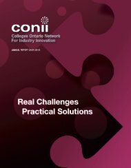 CONII Annual Report 2012-13 - Ontario Centres of Excellence