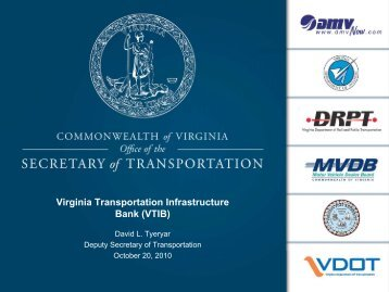 Virginia transportation infrastructure bank - Commonwealth ...
