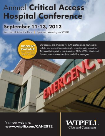 Annual Critical Access Hospital Conference - Wipfli