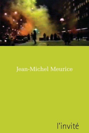 Jean-Michel Meurice - PDF - Agence Culturelle d'Alsace