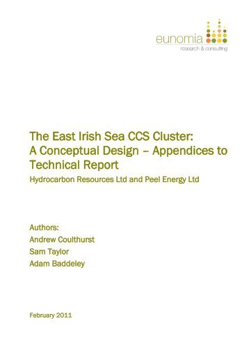 The East Irish Sea CCS Cluster - Eunomia Research & Consulting