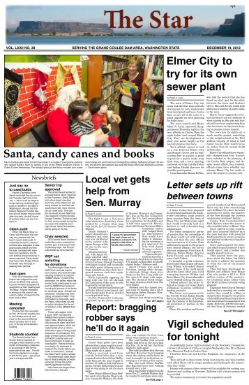 Santa, candy canes and books - The Star of Grand Coulee