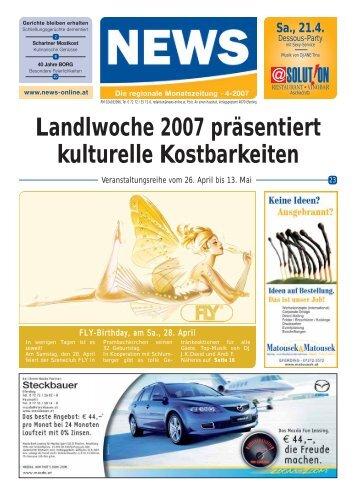 Landlwoche 2007 präsentiert kulturelle ... - NEWS-ONLINE.at