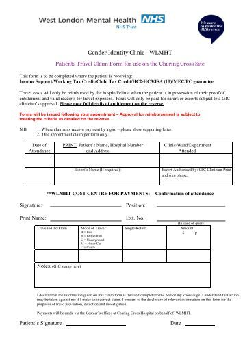 tour claim format