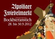 Apoldaer Zwiebelmarkt - Vereinsbrauerei Apolda