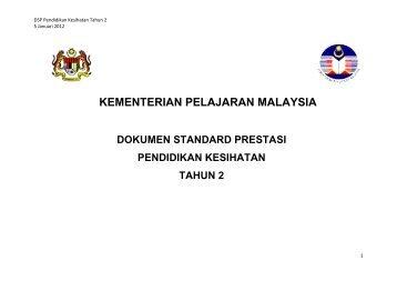 Pendidikan Kesihatan Tahun 2 - Kementerian Pelajaran Malaysia