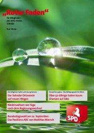 Roter Faden Ausgabe 07 2013 - SPD-Ortsverein Sehnde