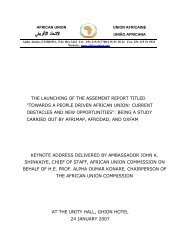 towards a people driven african union: current ... - Union africaine