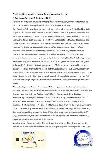 Tagesbericht 08. September -  Verden