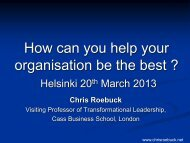 How can you help your organisation be the best ? - easyFairs