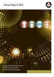 FTA Annual Report 2012 - Freight Transport Association