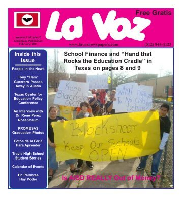 La Voz de Austin February 2011fin - La Voz Newspapers