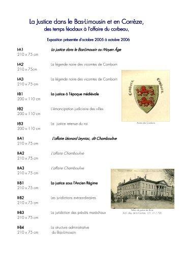 La Justice dans le Bas - Archives départementales Corrèze