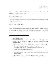 Council Minutes Monday, October 31, 2011 - City Of St. John's