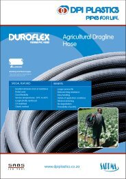 DPI Duroflex dragline agricultural PVC Hose Brochure - Incledon