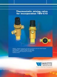Thermostatic mixing valve for incorporation TMV ... - Watts Industries