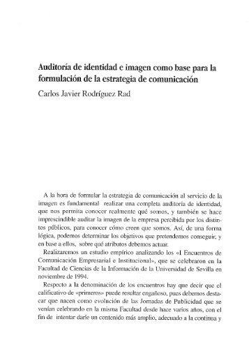 Auditoría de identidad e imagen como base para la - Maecei.es