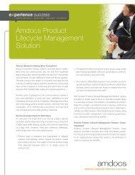 brochure: Amdocs Product Lifecycle Management
