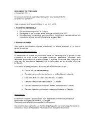 RÈGLEMENT DU CONCOURS « Prenez l'air! 2013 - La Capitale ...