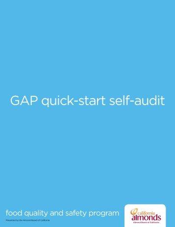 GAP quick-start self-audit - Blue Diamond Growers