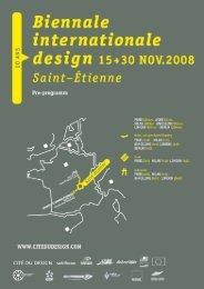 Pre-programm (PDF) - Biennale internationale design 2008 - Cité du ...
