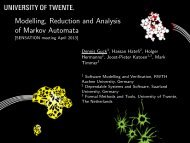 Modelling, Reduction and Analysis of Markov Automata [.1cm ...