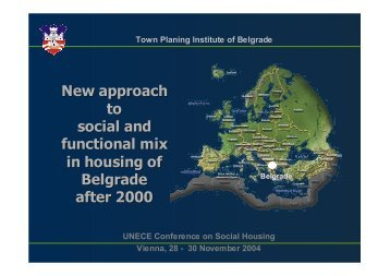 New approach to social and functional mix in housing of Belgrade ...