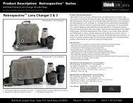 Retrospective™ Lens Changer 2 & 3 - Think Tank Photo