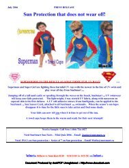 Superman to the Rescue Against Those Evil UV Rays - Sources