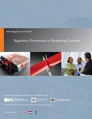 Regulatory Governance in Developing Countries - Investment Climate