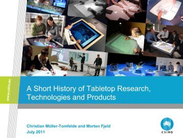 A Short History of Tabletop Research, Technologies and Products