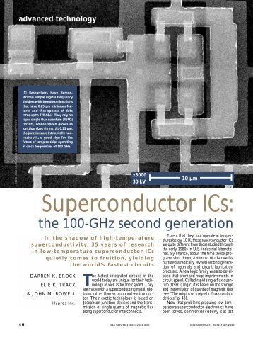 Superconductor ICs: the 100-GHz second generation ... - Hypres Inc.
