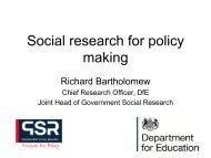 Social research for policy making - UK Social Policy Association