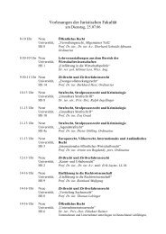 Vorlesungen der Juristischen Fakultät - Heidelberg Alumni ...