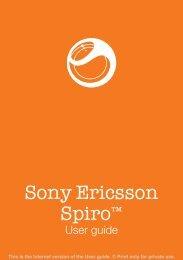 Sony Ericsson Spiro - Vodafone-Help