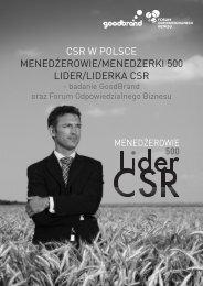 csr w polsce menedżerowie/menedżerki 500 lider/liderka csr