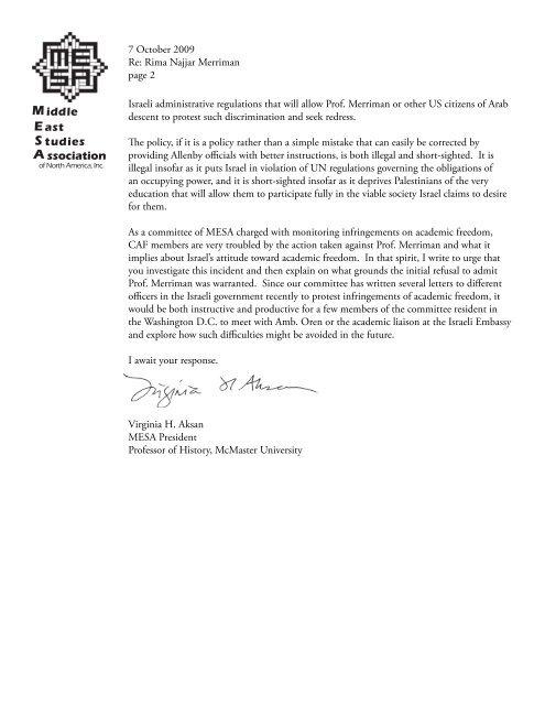E S A M - Middle East Studies Association - University of Arizona