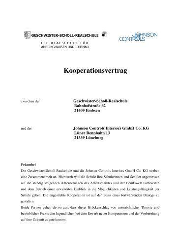 muster kooperationsvertrag akquisitionszusammenarbeit kooperationsvertrag mit geschwister scholl realschule - Muster Kooperationsvertrag